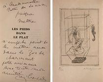 [GIACOMETTI] -- CREVEL, René (1900-1935). Les Pieds dans le plat. Paris: Éditions du Sagittaire (anciennes éditions Kra), 1933.