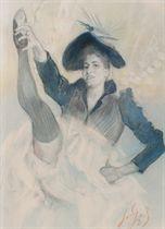 LEGRAND, Louis (1863-1951). 13 grands dessins originaux, dont 11 signés, pour l'illustration de Cours de danse fin de siècle d'Érastène Ramiro, paru chez Dentu en 1892.