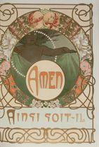 [MUCHA] -- Le Pater. Commentaires et compositions de A.M. Mucha. Paris: F. Champenois et H. Piazza, 1899.
