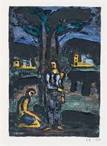 ROUAULT, Georges (1871-1958). Paysages Légendaires. Poèmes illustrés par l'auteur de 6 lithographies originales et de cinquante dessins en reproduction. Paris: Éditions Porteret, 1929.