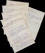 """CENDRARS. Cycle triste. Manuscrit autographe signé """"Freddy Sausey"""" et daté """"Berne 29-30 janvier 1910"""". 12 feuillets in-4 (268 x 210 mm). Encre violette sur papier quadrillé. (Pliures.)"""
