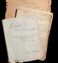 CENDRARS. Conte. Troisième manuscrit à mon frère Georges et à ma chère Agnès.