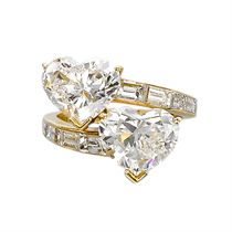 A 'TOI ET MOI' DIAMOND RING, BY FRED