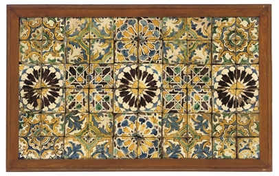 A HISPANO-MORESQUE TILE PANEL