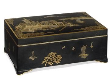 A JAPANESE KOMAI-STYLE BOX AND