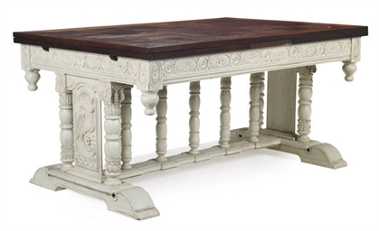 AN OAK AND WHITE-PAINTED DRAW-