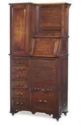 AN OAK DENTISTS CABINET