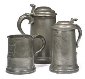 TWO LATE VICTORIAN PEWTER SPOR