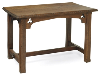 A LATE VICTORIAN CARVED OAK LO