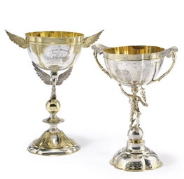 TWO VICTORIAN PARCEL-GILT SILV