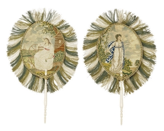 A PAIR OF GEORGE III EMBROIDER