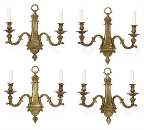A SET OF FOUR FRENCH GILT-BRON