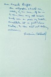 CALDWELL, Erskine (1903-1987).