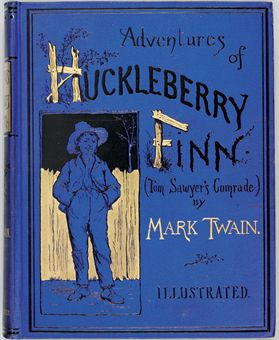 CLEMENS, Samuel Langhorne (Mark Twain). Adventures of Huckleberry Finn (Tom Sawyer's Comrade). New York: Charles L. Webster and Company, 1885.