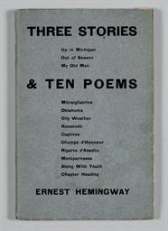 HEMINGWAY, Ernest. Three Stori