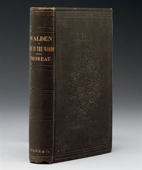 THOREAU, Henry David (1817-1862). Walden; or, Life in the Woods. Boston: Ticknor and Fields, 1854.