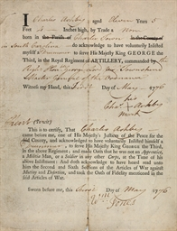 [AMERICAN REVOLUTION]. Partly