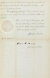 LINCOLN, Abraham. Manuscript d