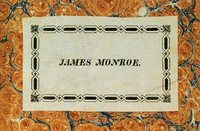 [MONROE, James]. LANJUINAIS, J