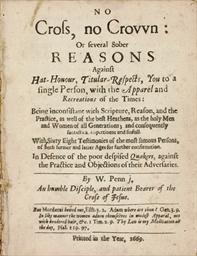 PENN, W[illiam] (1644-1718). N