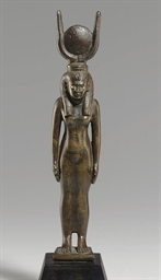 AN EGYPTIAN BRONZE ISIS