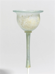 A ROMAN GLASS FUNNEL