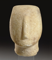 A CYCLADIC MARBLE HEAD