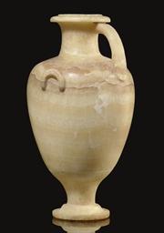 A GREEK BANDED ALABASTER HYDRI