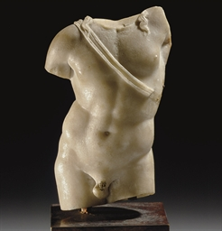 A ROMAN MARBLE TORSO OF APOLLO