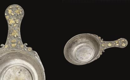 A ROMAN PARCEL GILT SILVER PAT