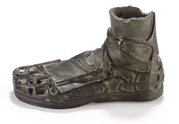 A ROMAN BRONZE LEFT FOOT