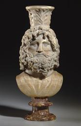 A ROMAN ALABASTER BUST OF SERA