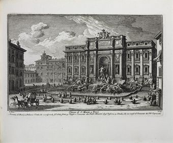 VASI, Giuseppe Agostino (1710-1782). Delle magnificenze di Roma antica e moderna. Rome: Chracas and others, 1747-1761.