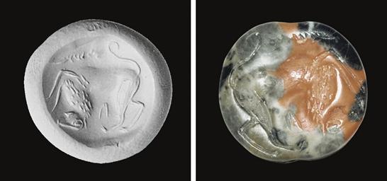 A MINOAN/MYCENAEAN MOTTLED JAS