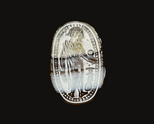 AN ETRUSCAN BANDED AGATE SCARA