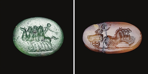 TWO ROMAN RINGSTONES