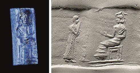 AN OLD BABYLONIAN LAPIS LAZULI