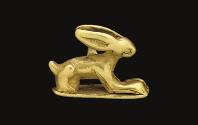 AN EGYPTIAN GOLD PENDANT