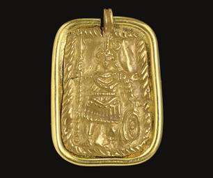 A ROMAN GOLD PENDANT