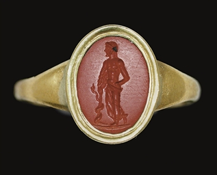 A ROMAN RED JASPER RINGSTONE