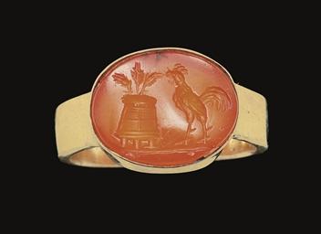 A ROMAN CARNELIAN RINGSTONE