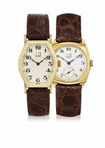 DUNHILL, MECHANICAL  SET OF TWO YELLOW GOLD MANUALLY-WOUND WRISTWATCHES, LIMITED EDITION OF 250