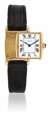 CARTIER, REVERSO  YELLOW GOLD
