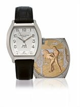 ANTOINE PREZIUSO, HOURS OF LOVE, NO 1  WHITE GOLD MANUALLY-WOUND WRISTWATCH WITH CONCEALED EROTIC AUTOMATON, LIMITED EDITION OF 30
