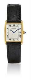 CARTIER, TANK ARRONDIE  YELLOW