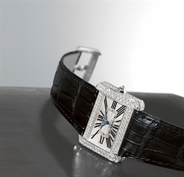 CARTIER, DIVAN  WHITE GOLD AND