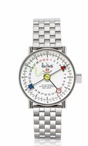 ALAIN SILBERSTEIN, PERPETUAL CALENDAR  STAINLESS STEEL AUTOMATIC PERPETUAL CALENDAR BRACELET WATCH, LIMITED EDITION OF 100