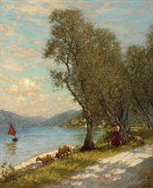 Veronese shepherdess, Lake Garda
