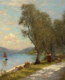 Veronese shepherdess, Lake Gar