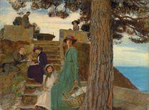 A picnic at Portofino, 1911